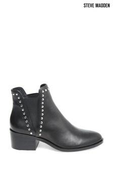 Steve Madden Black Cade Slip-On Boots