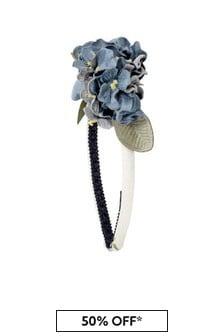 Girls Blue Floral Headband