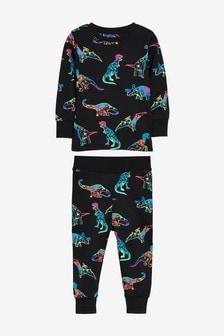 Black Fluro Dino Snuggle Pyjamas (9mths-8yrs)