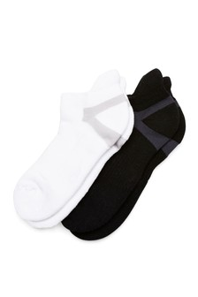 Black Sports Trainer Socks Two Pack