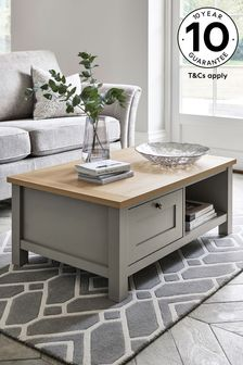 Dove Grey Malvern Storage Coffee Table