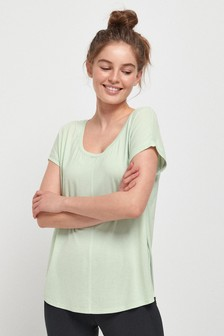 Mint Short Sleeve Slouch Sports Top