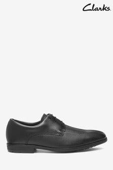 Clarks Black Leather Willis Lad BL Shoes