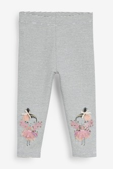Monochrome Fairy Embroidered Leggings (3mths-7yrs)