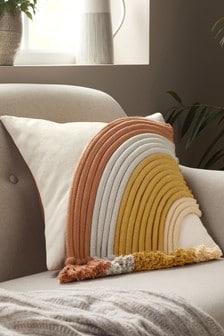 Natural Rainbow Cord Cushion