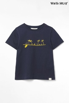 White Stuff Blue Kids Surf Paradise Jersey T-Shirt