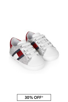 Tommy Hilfiger Baby Girls White Trainers