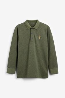 Khaki Textured Poloshirt (3-16yrs)