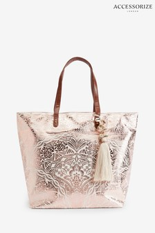 Accessorize Rose Gold Kea Tote