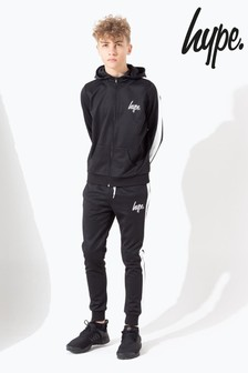 Hype. Black Side Stripe Kids Tracksuit