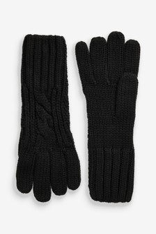 Black Cable Gloves