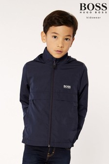 BOSS Navy Logo Jacket
