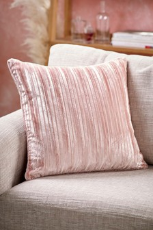 Silver Tinsel Cushion