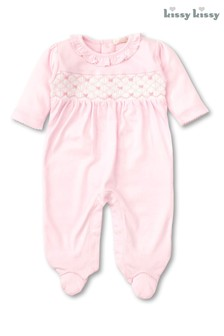 Kissy Kissy Pink Bow Babygrow