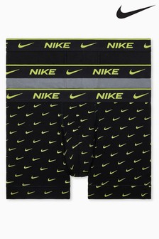 Nike Black Everyday Cotton Stretch 3 Pack Trunks