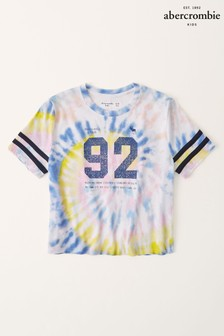 Abercrombie & Fitch Tie Dye Sporty Graphic T-Shirt