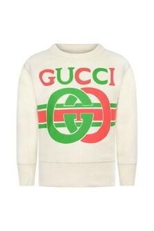 Boys Ivory Logo Sweater