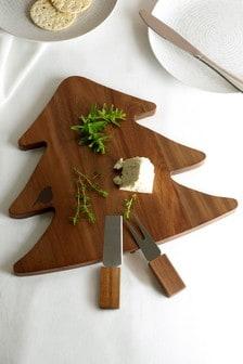 Wooden Christmas Tree Cheeseboard
