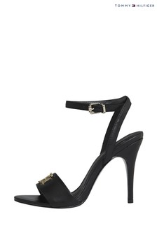 Tommy Hilfiger Black Mongram Heeled Sandals