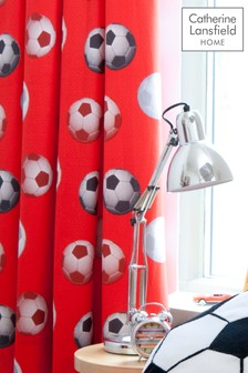 Football Lined Eyelet Curtains by Catherine Lansfield