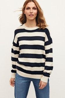 Navy/White Stripe Jumper