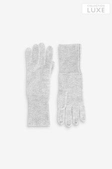 Grey Cashmere Blend Gloves