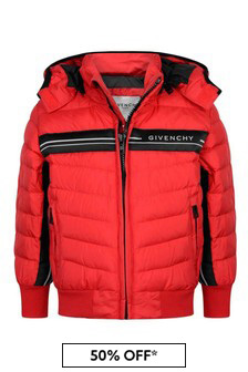 Boys Red Down Padded Jacket