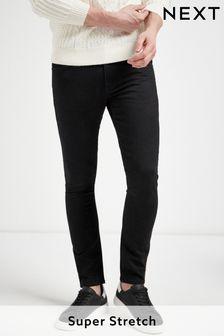 Solid Black Skinny Fit Ultimate Comfort Super Stretch Jeans
