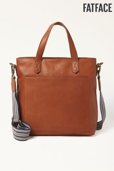 FatFace Tan Serenity Leather Tote Bag