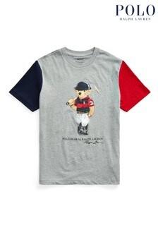 Ralph Lauren Grey Bear Colourblock T-Shirt