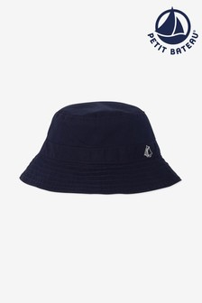 Petit Bateau Navy Twill Sun Hat