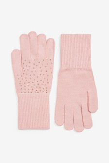 Pink Sparkle Gloves