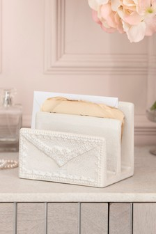 Pretty Ceramic Letter Rack