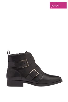 Joules Black Melbourne Bike Boot With Straps