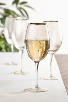 Set of 4 Lipsy Optic Wine Glasses