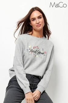 M&Co Grey Kind Heart Sweatshirt