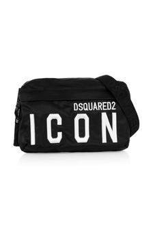 Kids Black Icon Belt Bag
