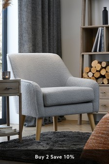 Cosy Valais Grey Ari Accent Chair With Light Legs