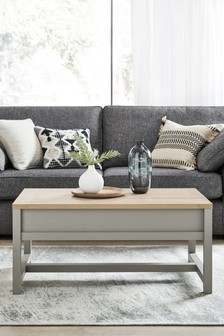 Dove Grey Malvern Coffee Table To Desk