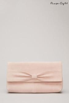 Phase Eight Neutral Sim Bow Clutch Bag