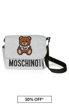 Moschino Kids Grey Cotton Changing Bag