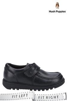 Hush Puppies Black Ryan Junior School Shoes