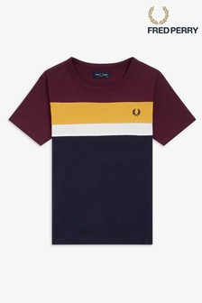 Fred Perry Boys Colourblock T-Shirt