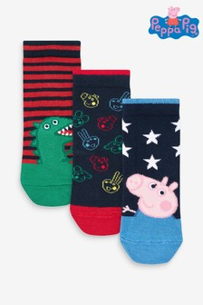 Navy 3 Pack Peppa Pig™ Socks (Younger)