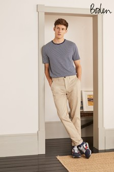 Boden Natural Lightweight Slim Chinos