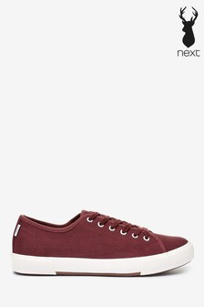 Burgundy Canvas Trainers