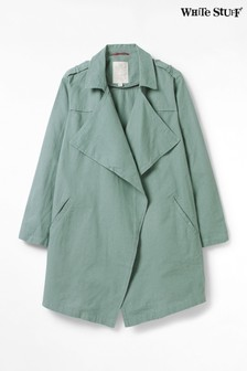 White Stuff Teal Dolly Linen Duster Jacket