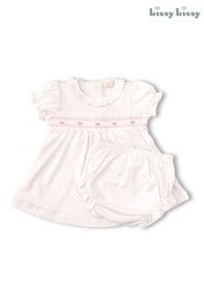 Kissy Kissy Pink Bishop Dress