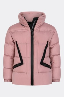 Grenoble Girls Pink Down Padded Dixence Ski Jacket