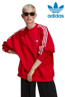 adidas Originals Red Oversized Sweat Top